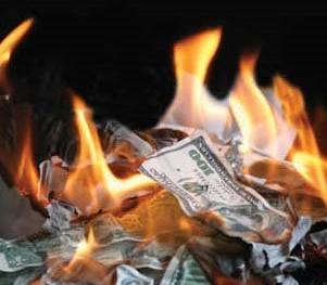 burning$